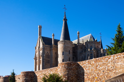 Old town walls  and Episcopal Palace of Astorga