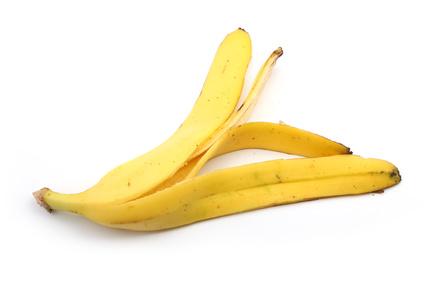 Banana skin isolated on white